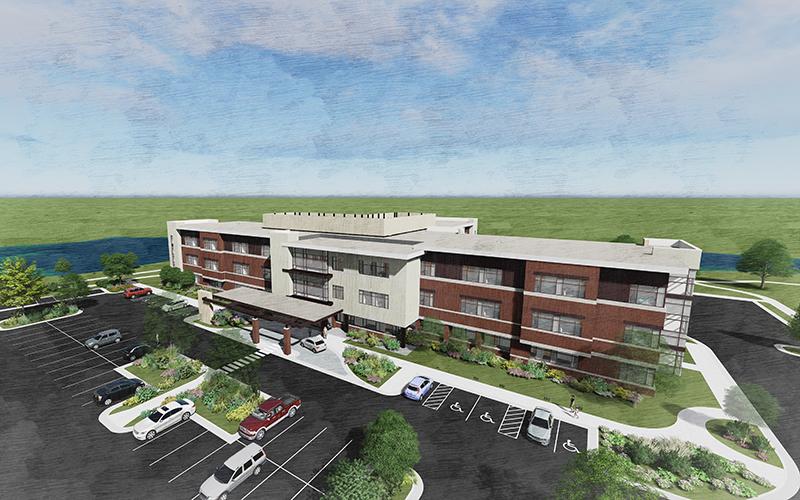 rehabilitation center rendering