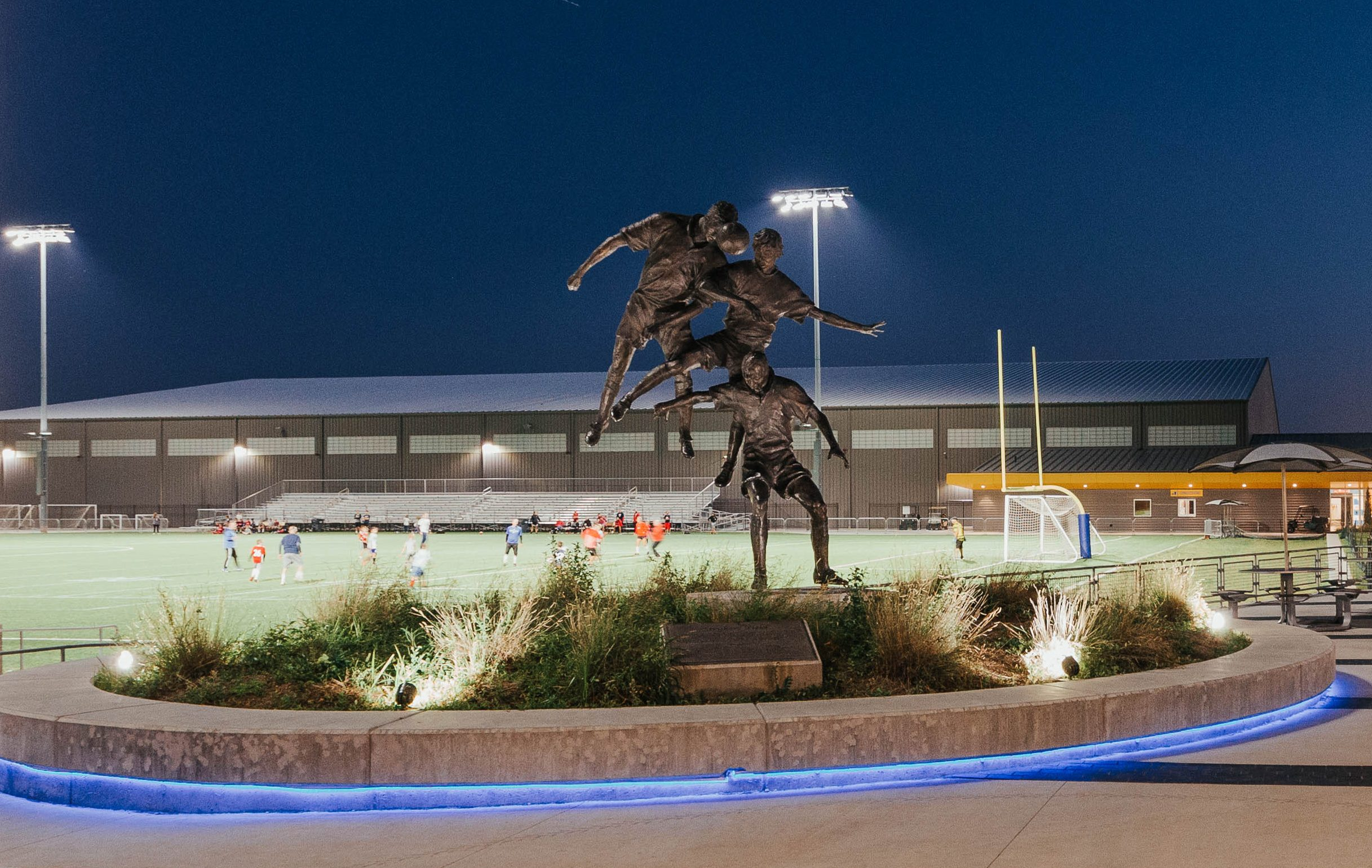 Stryker Sports Complex sculpture