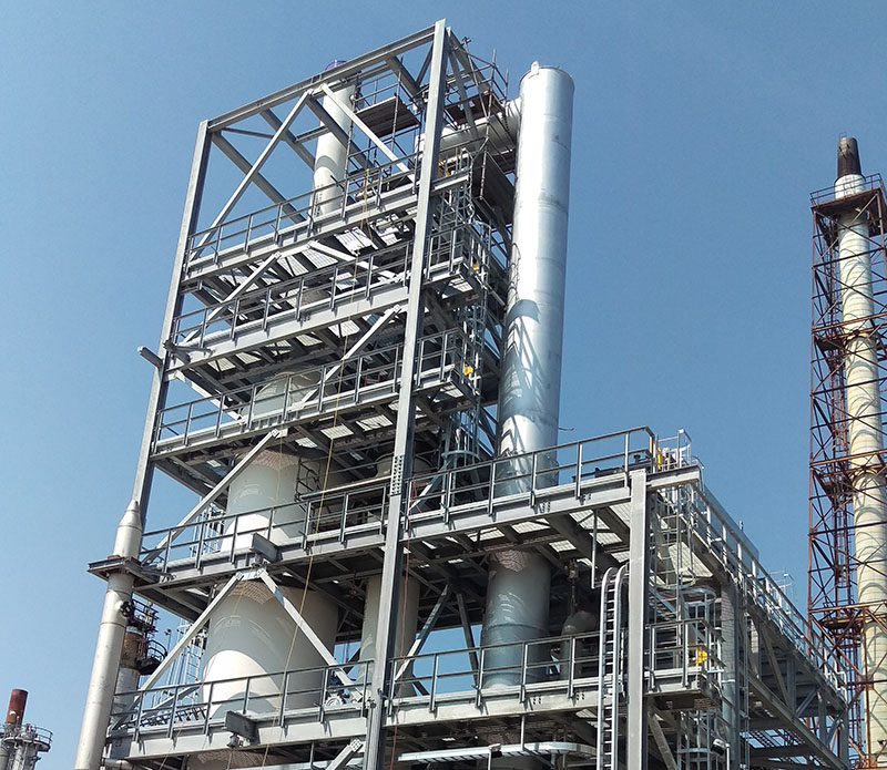 oil refinery stack engineering