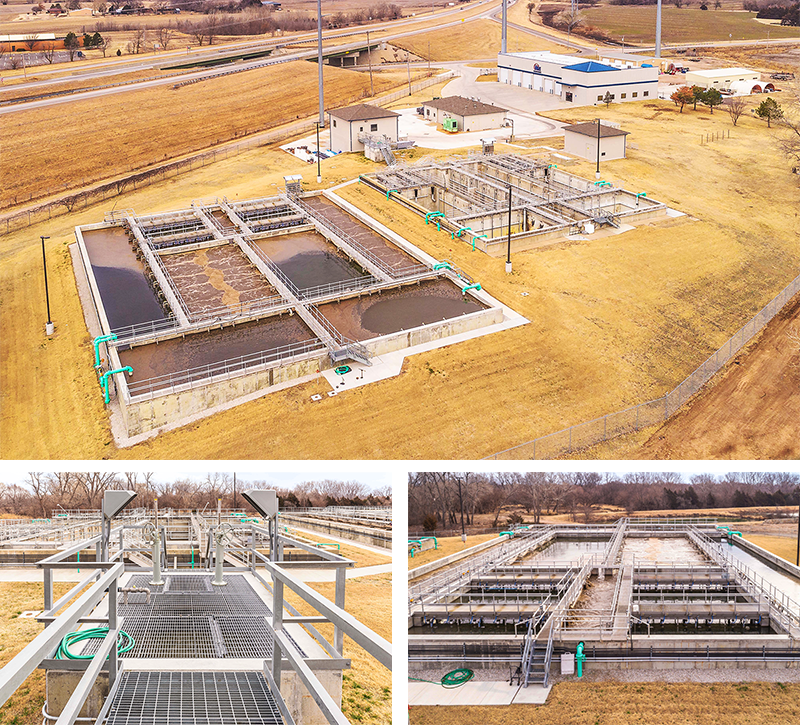 Maize wastewater treatment plant aerial