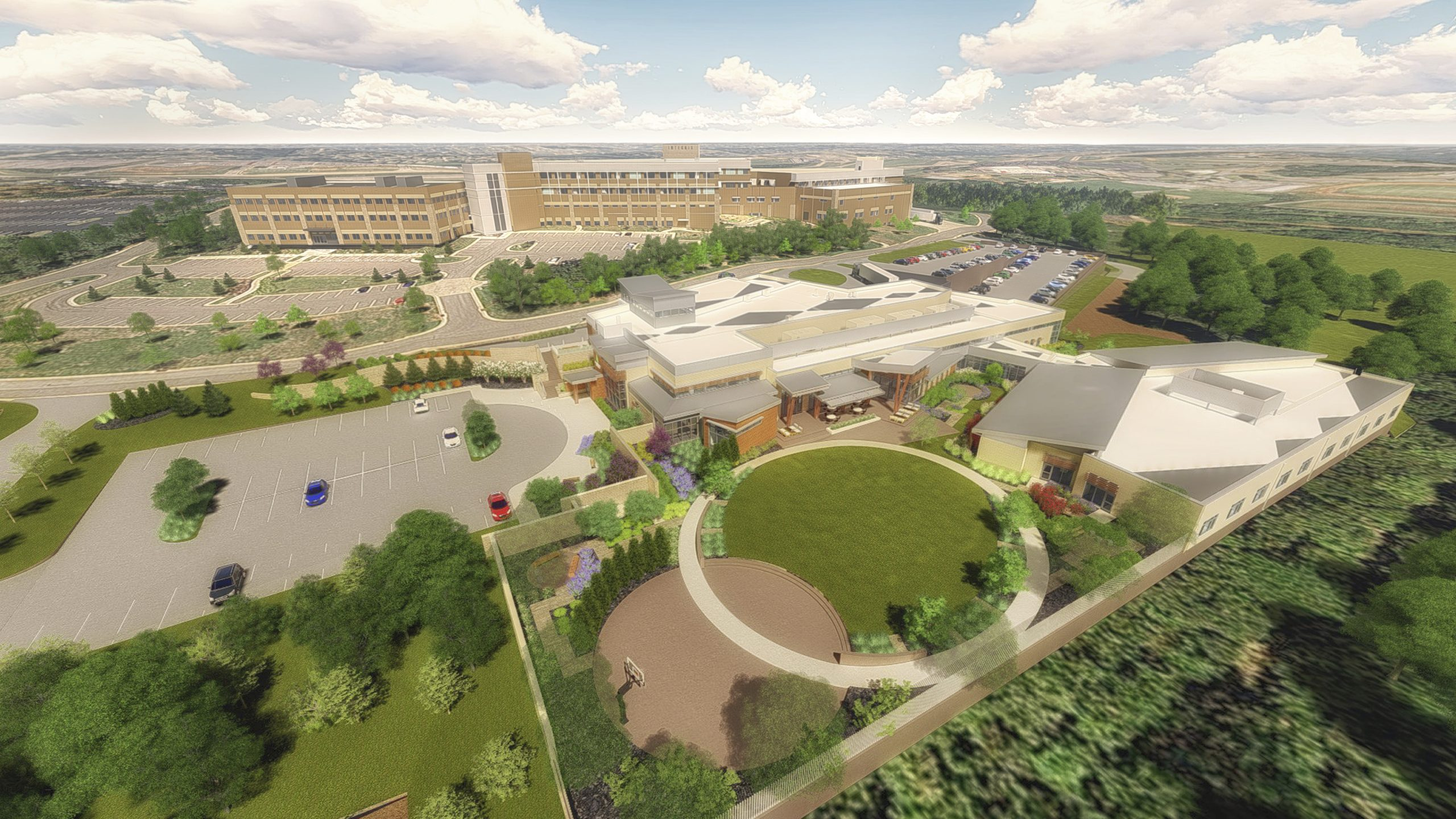 INTEGRIS health Edmond hospital campus site design