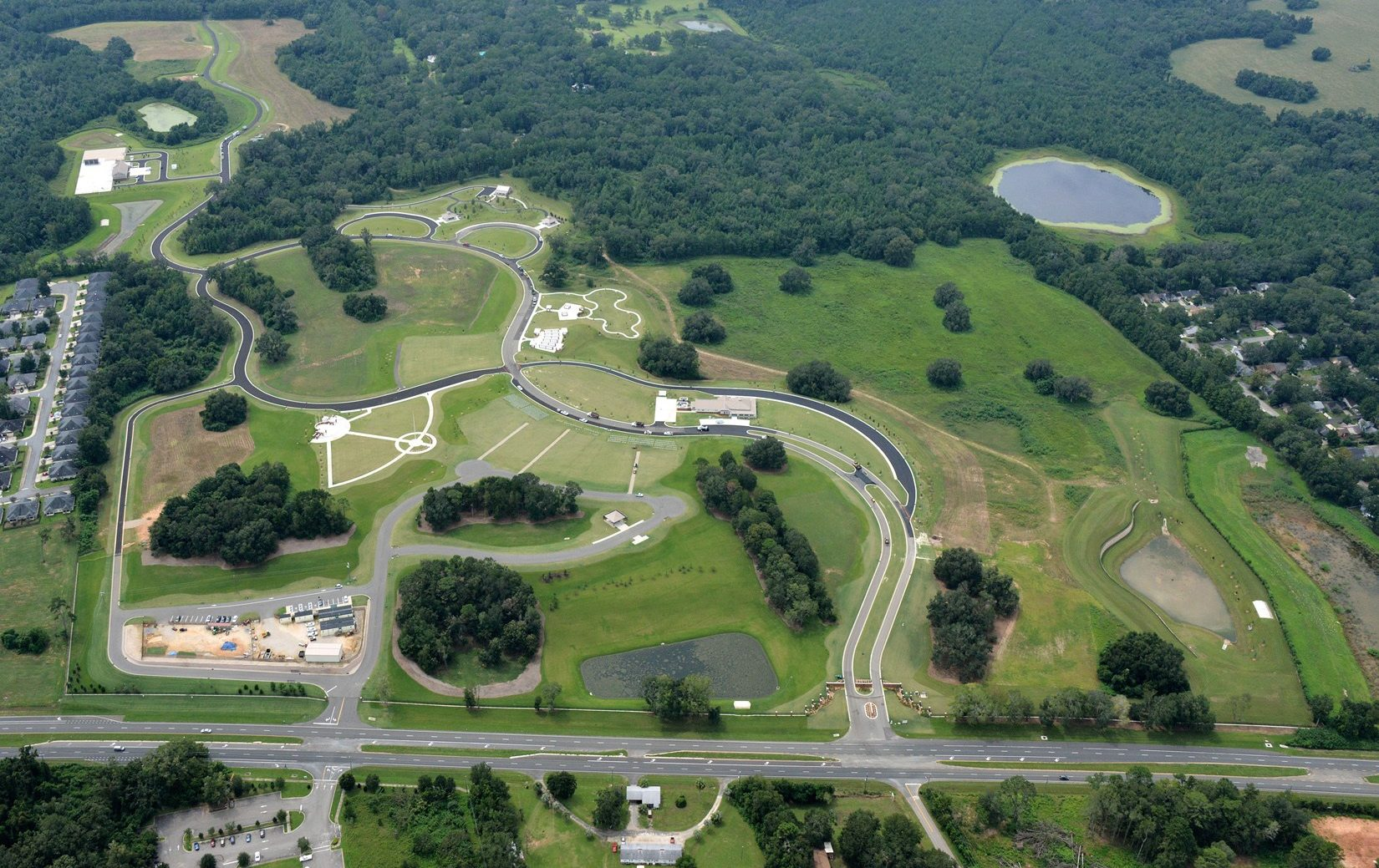 Tallahassee National Cemetery aerial shot