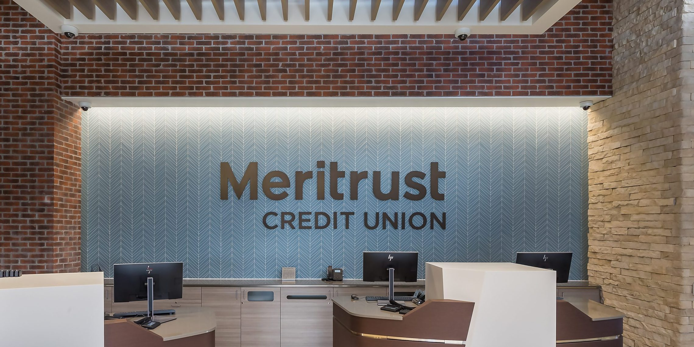 Meritrust Credit Union branch sign