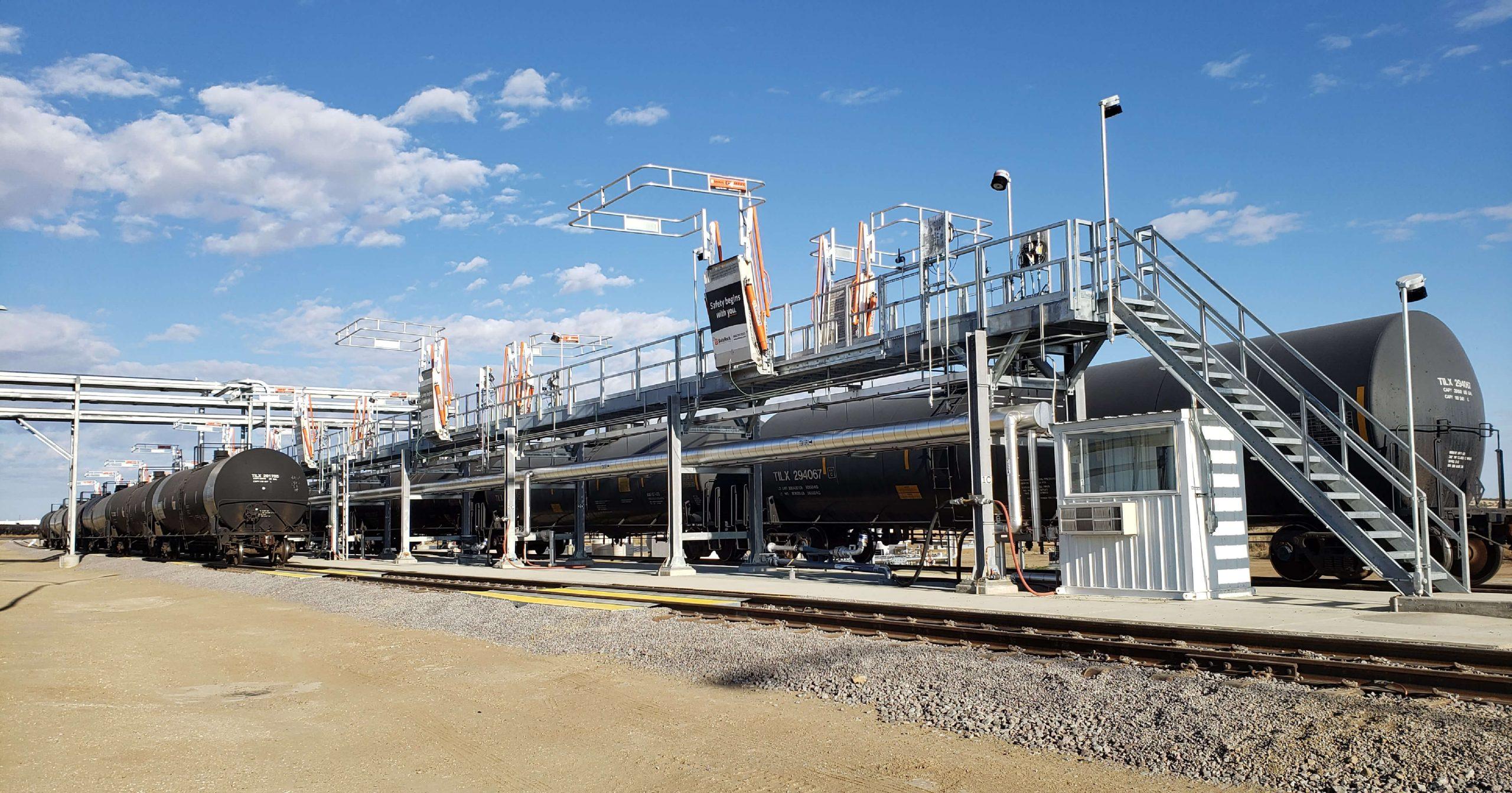 renewable rail loading terminal
